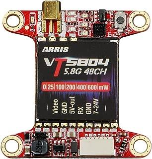 ARRIS 5.8ghz Transmitter VT5804 5.8G 48CH VTX Raceband Video Transmitter Switchable 0mw/25mw/100mw/200mw/400mw/600mw for FPV Racing Drone Quadcopter