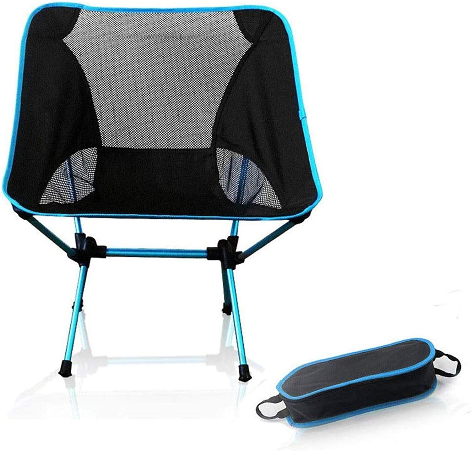 Tao-Miy Camping Folding Chair Portable Chair Ultra Light Aluminum Fishing Chair Leisure Party Chair Sketch Chair (color   bluee)