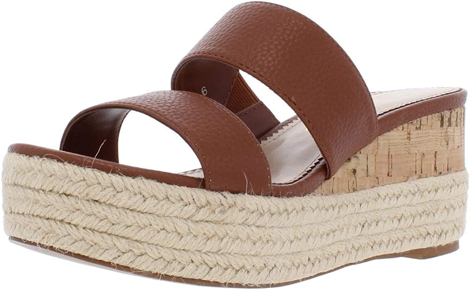 Callisto of California Womens Foundation Faux Leather Espadrille Wedge Sandals