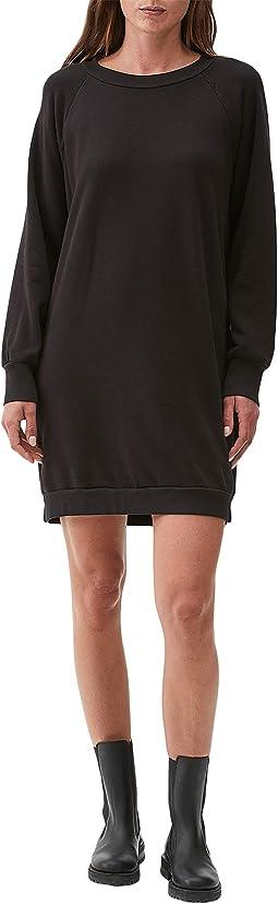 Lolly Cozy Terry Long Sleeve Crew Neck Balloon Sleeve Sweatshirt Dress