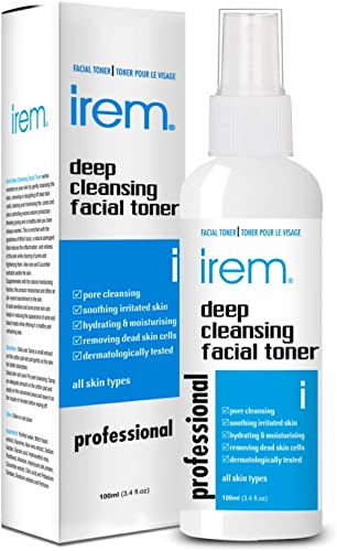 Irem Deep Cleansing Facial Toner for all skin types - Pore minimizing, Soothing & Hydrating contains Witch hazel, Alo...