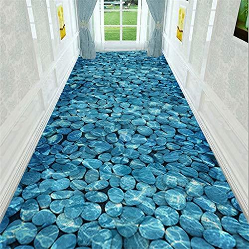 LIL Estera de yoga 3D bajo el agua Piedra de empalme de impresión espesado Corredor Corredor Alfombra, bricolaje Pasillos corredor de la alfombra, tamaño de la aduana de entrada pasillo largo Slip lav