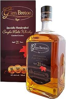 "Glen Breton Rare 21 Years Old Canada""s First Single Malt Whisky 43% Volume 0,7l in Geschenkbox Whisky"