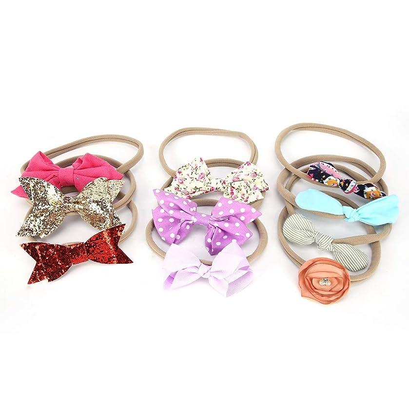 Baby Nylon Headbands Hairbands Hair Bow Elastics for Baby Girls Newborn Infant Toddlers Kids(1)