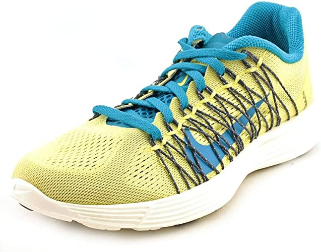 caminar Almacén luto  Amazon.com | Nike Lunarlon Fitsole for Wome's (5, Blue/Yellow) | Road  Running