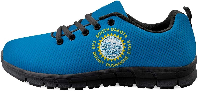 Owaheson Lace-up Sneaker Training shoes Mens Womens South Dakota Flag