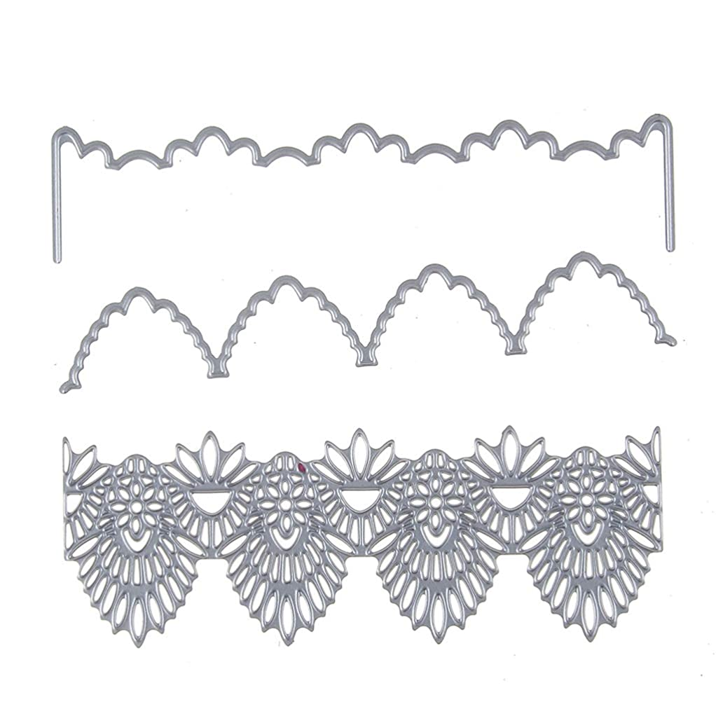 攻撃的クローゼットコーヒーMarschaoレース花カットダイスステンシルDIYスクラップブッキング紙カードエンボス装飾