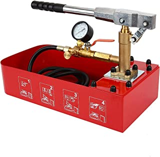 IRONWALLS Hydraulic Manual Water Pressure Compression Test Pump Water Pipe Leakage Pressure Tester 2 Gallon Tank