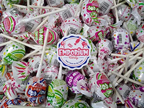 Charms Blow Pops - Delicious Assorted Lollipops Watermelon Strawberry Cherry Grape Sour Apple - 2 lbs Bulk Candy with Refrigerator Magnet