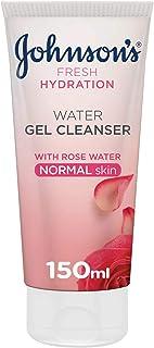 JOHNSON'S Face Cleanser, Fresh Hydration, Water Gel Cleanser, Normal Skin, 150ml