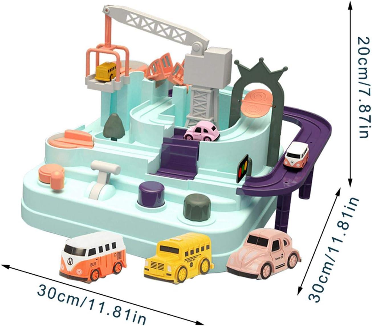 pasidenis Auto-Abenteuerspielzeug Puzzle-Car-Track-Parkspiele f/ür Jungen und M/ädchen Eltern-Kind-Kinderspielzeug f/ür interaktive Rennen City Rescue Preschool Educational Rail Car