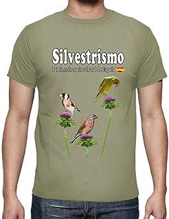 latostadora - Camiseta Tres Plumas Jilguero para Hombre
