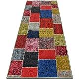 Teppichläufer Monsano | Patchwork Muster im Vintage Look | viele Größen | rutschfester Teppich Läufer für Flur, Küche, Schlafzimmer | Niederflor Flurläufer | bunt Breite 80 cm x Länge 350 cm - 2