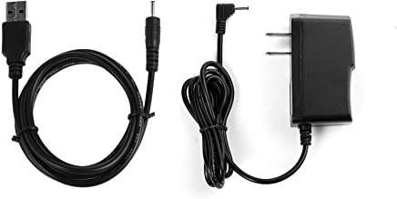 """NiceTQ Replacement Home Wall AC Power Adapter Charger + DC USB Charging Cable For RCA 10 VIKING PRO RCT6303W87 / RCT6303W87DK 10"""" Tablet"""