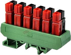 Electronics-Salon Slim DIN Rail Mount 30A/60V 6-Position Power Distribution Block Module, for Power Pole Connectors