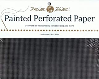 Perforated paper - Midnight Black