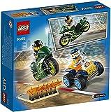 LEGO City Turbo Wheels - Equipo de Especialistas, Set de Construcción, Incluye Quad y Moto Acrobáticos, 2 Minifiguras de Pilotos con Casco y Rampa de Despegue con Llamas (60255) , color/modelo surtido
