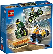LEGO 60255 City Nitro Wheels Stunt Team Playset with ATV Quad Bike, Motorbike and Stunt Ramp with Fl...
