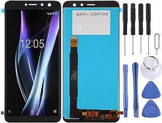 WANGQI Repuestos de reparación de teléfonos móviles Pantalla LCD y digitalizador Asamblea Completa de BQ BQ-5700L Espacio X (Color : Black)