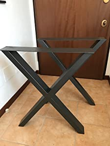 tonchean Dining Room Table Legs 28Inch Set of 2 Industrial Metal Dining Leg 440lbs Loading Heavy Duty Retro Cast Iron Desk Legs for Furniture Indoor Outdoor