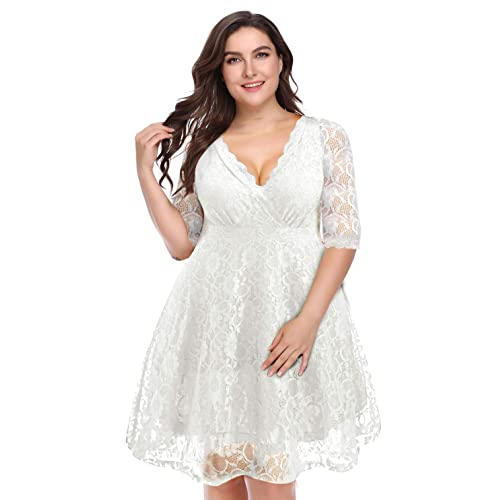 All White Plus Size Dresses: Amazon.com