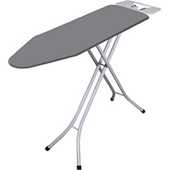 Zemic International Quality Sasimo Ironing Board/Iron Table Stand with Press Holder, Foldable & Height Adjustable/Ironing Board with Multi-Function Ironing Table/Ironing Board Covers with Foam pad.