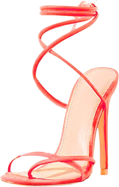USYFAKGH Shoes Women Sandals Fashion Women's High Heels Breathab