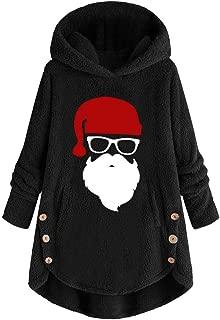 Sanyyanlsy Women's Long Sleeve Button Hoodie Coat Fluffy Plush Pullover Tops Loose Sweater Outwear Fashion Winter Wear