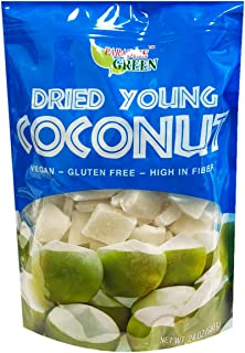 Paradise Green Vegan Dried Young Coconut 24oz, 1 Pack