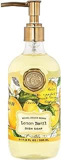 Michel Design Works Scented Dish Soap, 17.8-Ounce, Lemon Basil