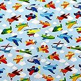 MAGAM-Stoffe Luftikus Flugzeuge Jersey Kinder Stoff