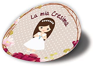20 pezzi Adesivi tondi CRESIMA, 40 millimetri, etichette cresima, thank you stickers, grazie, festa, tondo, rotondo, adesi...