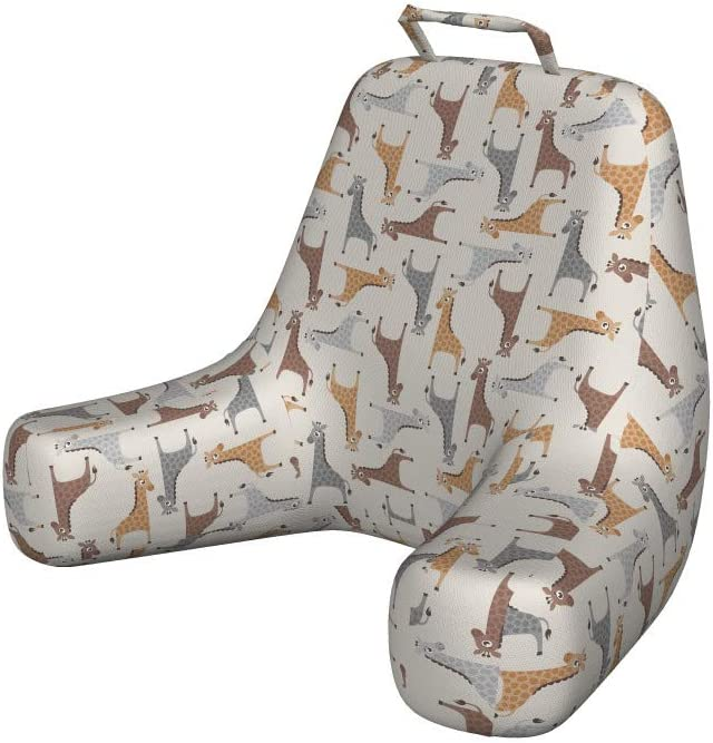 Ambesonne Giraffe Reading Cushion with Repeating Pocket Max Max 42% OFF 74% OFF Il Back