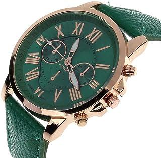 e955048f1904 SMTSMT Women s Leather Analog Quartz Wrist Watch-Dark Green