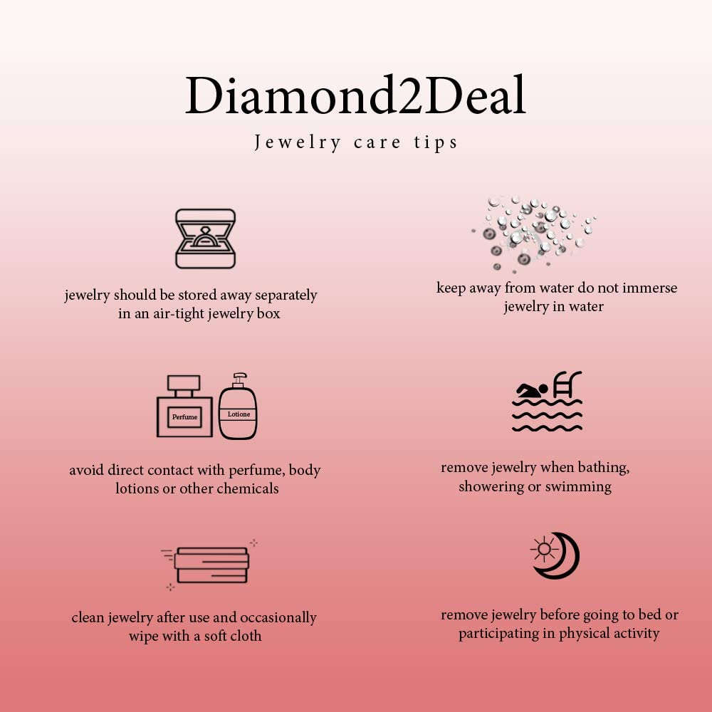 Diamond2Deal 14K White Gold Circular Cuff Link for Mens