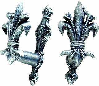 Denix Fleur de Lis Hangers, Antique Gray