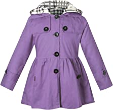 BINPAW Girls Hooded Trench Coat