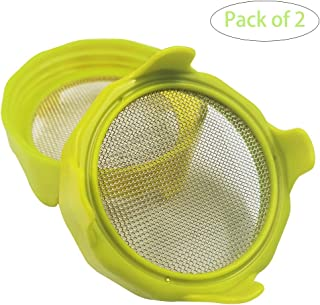 Sprouting lids, Plastic Sprout Lid with Stainless Steel Screen for Wide Mouth Mason Jars, Germination Kit Sprouter Sprout Maker with Stand Water Tray Grow Bean Sprouts, Broccoli Seeds, Alfalfa, Salad