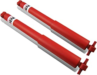 DNA Motoring For Pontiac GTO/Tempest 2pcs Red Mild Steel Rear Gas Shock Absorbers