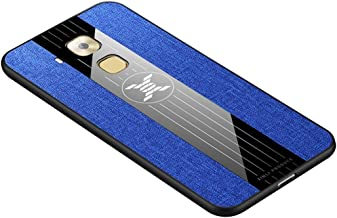 For Huawei Maimang 5 Stitching Cloth Textue Shockproof TPU Protective Case New (Black) Shaoy (Color : Blue)