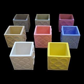 10 vasi cubici Panots personalizzabili, Yumilab, Barcellona, fiore di piastrelle di Barcellona, Portamatite Panot, matrimo...