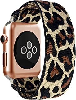 BMBEAR Stretchy Strap Loop Compatible with Apple Watch Band 42mm 44mm iWatch Series 5/4/3/2/1 Leopard