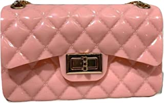 Womens Croosbody Jelly Bag Beautiful Shoulder Bags for Ladies and Girls Small PVC Quilted Satchel Purses for Women