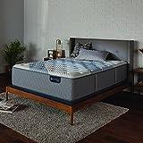 "Serta Icomfort Hybrid 15"" Blue Fusion 3000 Plush Mattress, King, Gray"