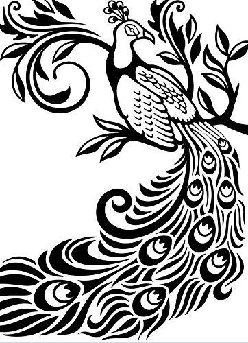 Darice Embossing Folder Prägefolder-Schablone, Pfau-Peacock-10,8 x 14,6 cm, Plastic, transparent, 10.8 x 14.6 x 0.11 cm