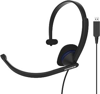 Koss CS195 USB Communication Headset Headphones | Single-Sided | USB Connection | Lightweight | D-Profile | Noise-Cancelli...