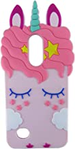 EMF LG K20 Plus Case,LG Harmony/LG K20 Case,3D Cartoon Animal Cute Pink Horse Silicone Protective Kawaii Funny Character Cover,Animated Fun Skin Cases for Kids Teens Girls for K10 2017/LV5/LG Grace