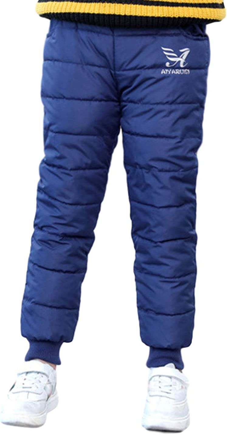 AMEBELLE Boy Girl Winter Thermal Down Trousers Thick Windproof Outdoor Snow Pants