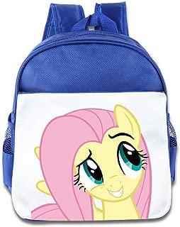 XJBD Custom Funny Cartoon Rainbow Pony Children Schoolbag For 1-6 Years Old RoyalBlue