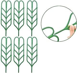 Mr.Garden DIY Garden Trellis, Plant Trellis for Potted Plants Growing Support, Leaf Shape Green Plastic Trellis, Outdoor Decor for Mini Climbing Plant Ivy Vine Rose, 4